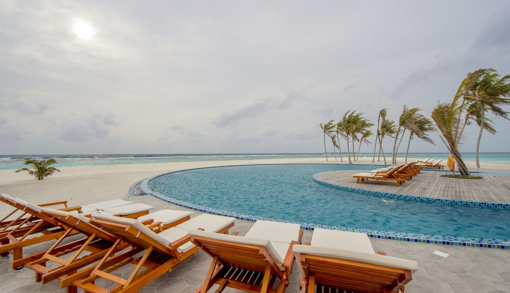 By the Pool at Hondaafushi Island Resort