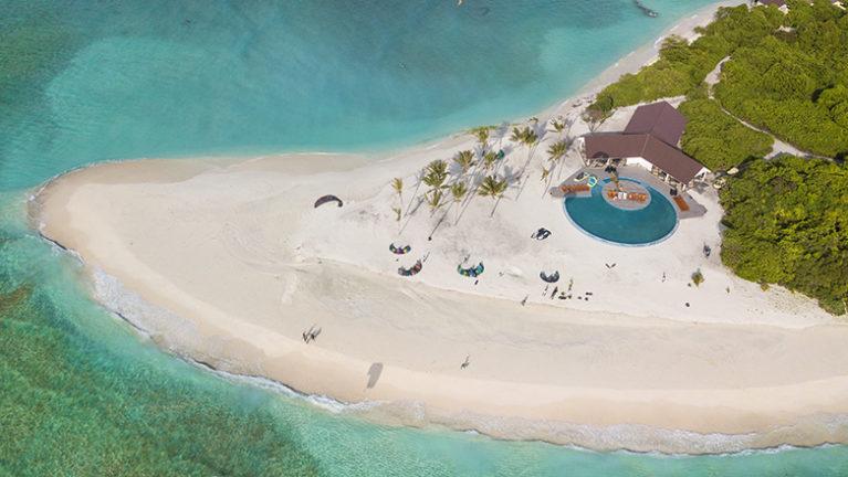 Aerial View of Hondaafushi Island Resort