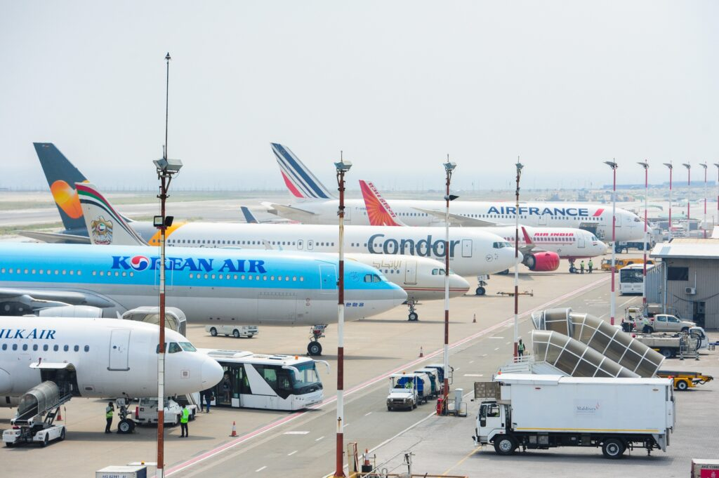 Fligths Parked in Maldives Airport